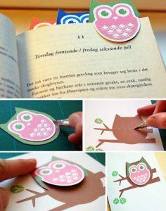 Marcapaginas de buhos para imprimir