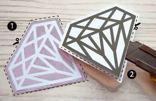 Marcapaginas de diamante para imprimir