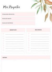 Planificadores para imprimir en pdf