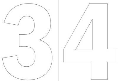 Moldes de numeros en pdf para imprimir