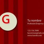 Plantilla de tarjetas de visita en psd con fondo rojo