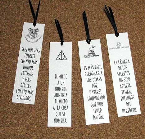 Marcapaginas en pdf para imprimir de harry potter