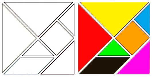 El tangram juego tradicional