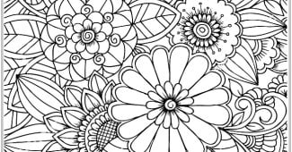 Flores para imprimir y colorear gratis