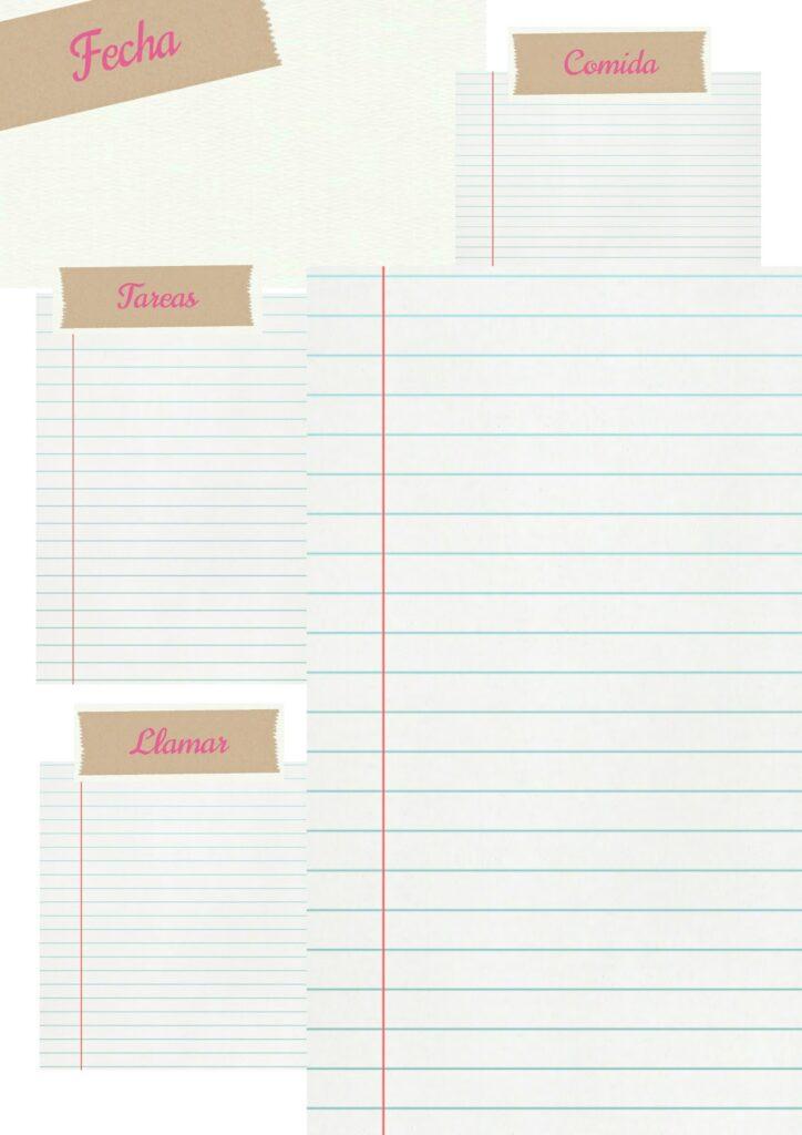Plantificador diario sencillo imprimirble