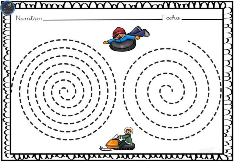 Fichas de grafomotricidad para practicar líneas