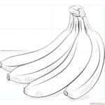 Cómo dibujar un racimo de plátanos