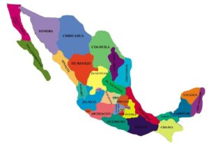 Mapa de la republica mexicana